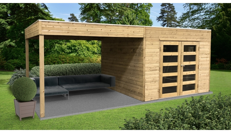 Abri Jardin Traite 19 Mm Tarento 2988 2929 X 2908 Mm Avec Pergola