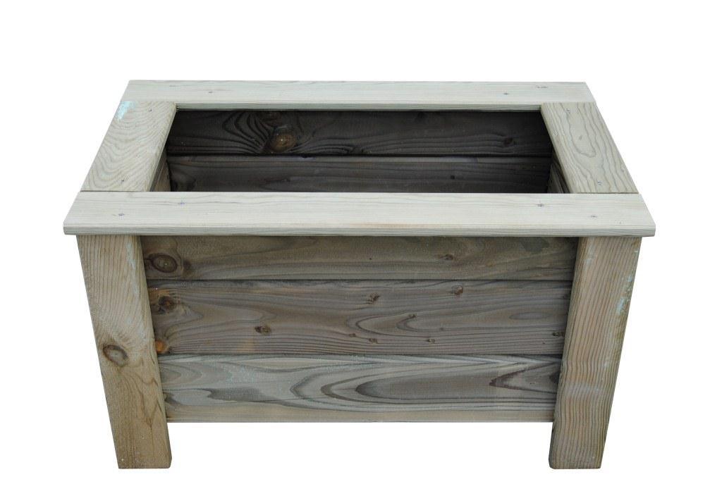 Aménagement jardin - Bac à fleurs en bois autoclave 80x40 cm ...