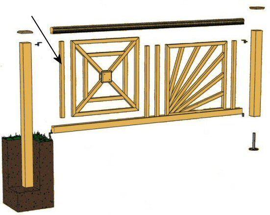 Balcon En Bois Kit : bois autoclave – Barreaux de cloture en pin – Palissade bois en kit