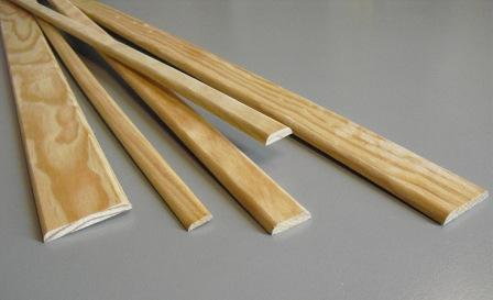 Chant plat bois 5 champs plats en pin 2400x30x6 mm for Baguette de bois