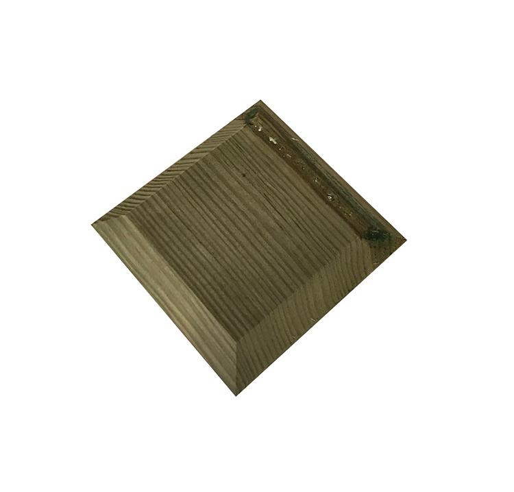 accessoires pour clture chapeau de poteau bois 9x9 cm idea bois nicolas. Black Bedroom Furniture Sets. Home Design Ideas