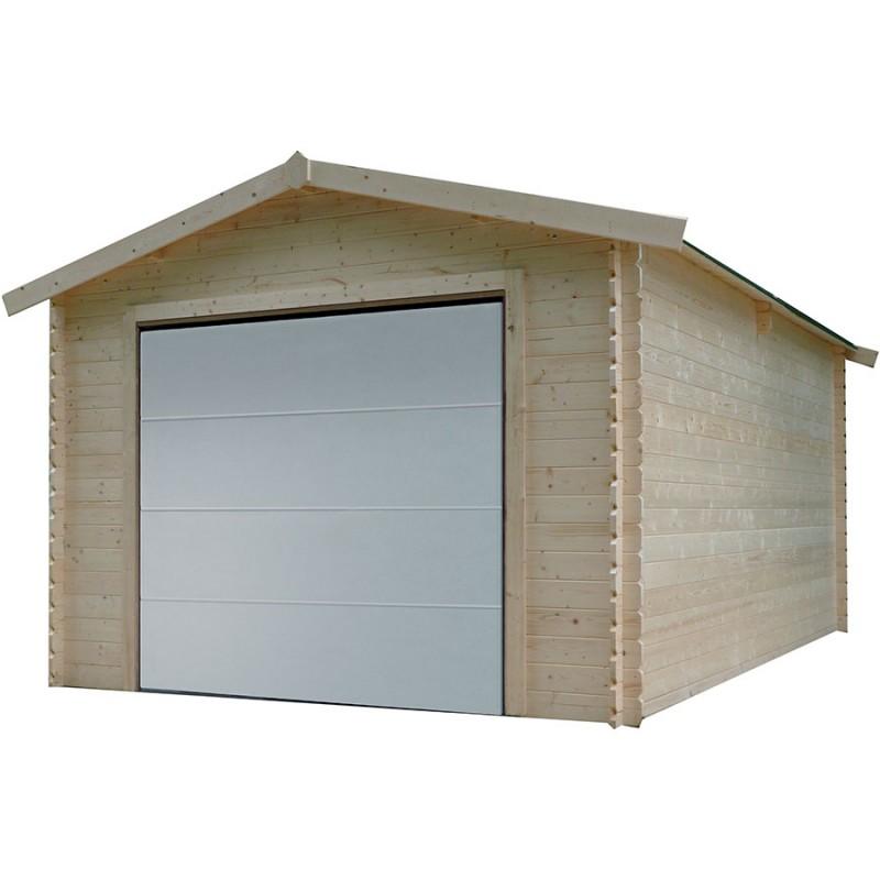 Garage en bois solid hobby s8330 idea bois nicolas for Garage en bois avec porte sectionnelle