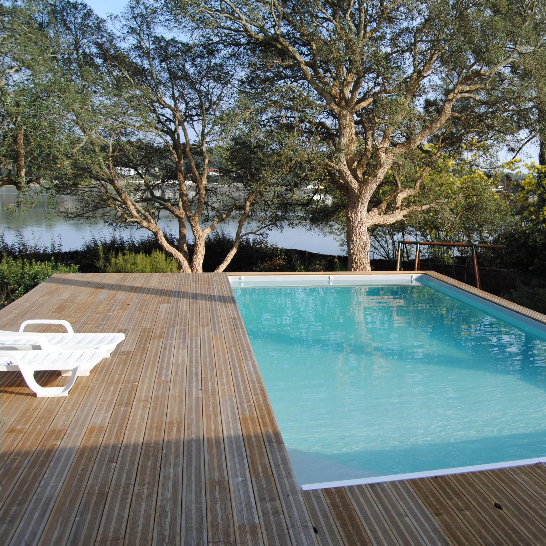 Kit terrasse 10m bois autoclave stri lames de terrasse for Plancher terrasse exterieur