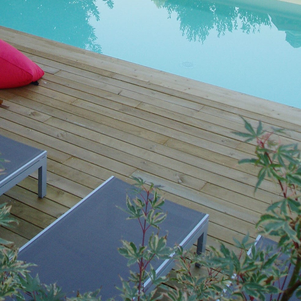 Traitement Terrasse Pin Autoclave kit terrasse 50m² selection en pin lisse autoclave