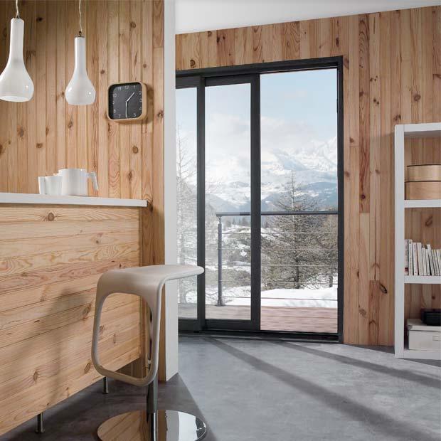 lambris pin des landes noueux 200x10 cm rev tement mural pin idea bois nicolas. Black Bedroom Furniture Sets. Home Design Ideas