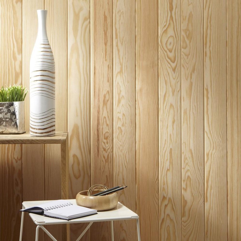 Bardage Bois Vertical Interieur lambris sans noeud 2000x100x10 mm en pin des landes