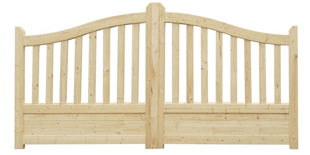 Portail en bois gand 300 cm solid idea bois nicolas for Portail bois jardin