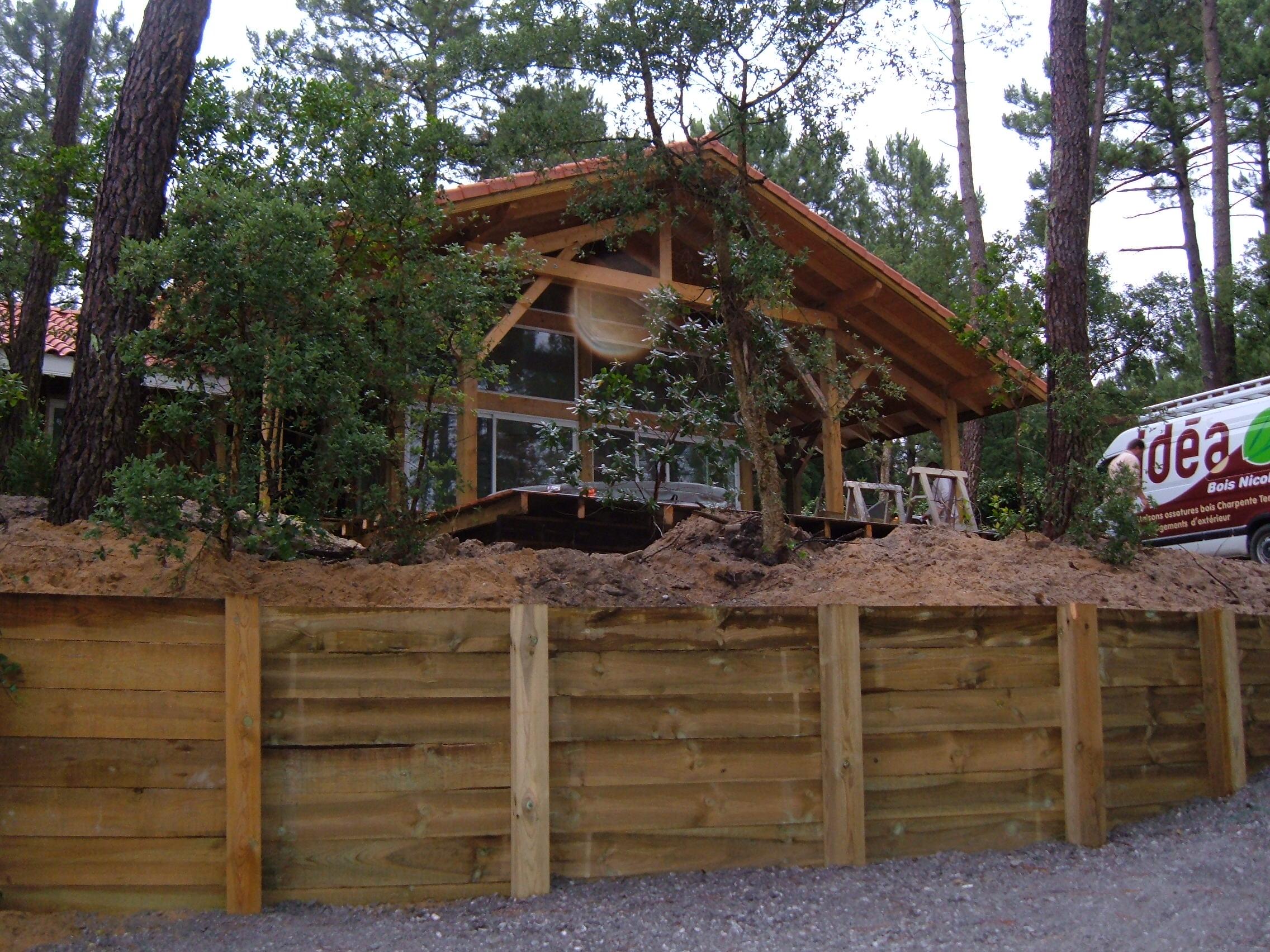 Poteau Bois 15 X 15 Cm Pour Retenue De Terre Autoclave Idea Bois