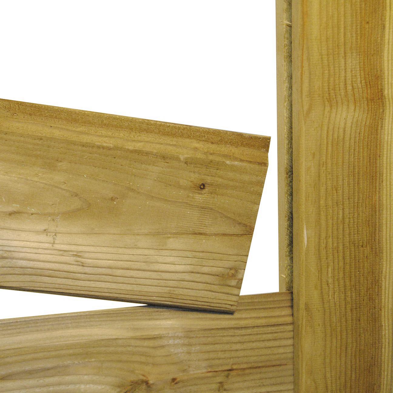 Poteau Bois Pour Terrasse poteau bois autoclave en h 9x9x240 cm pour jonction de clôture