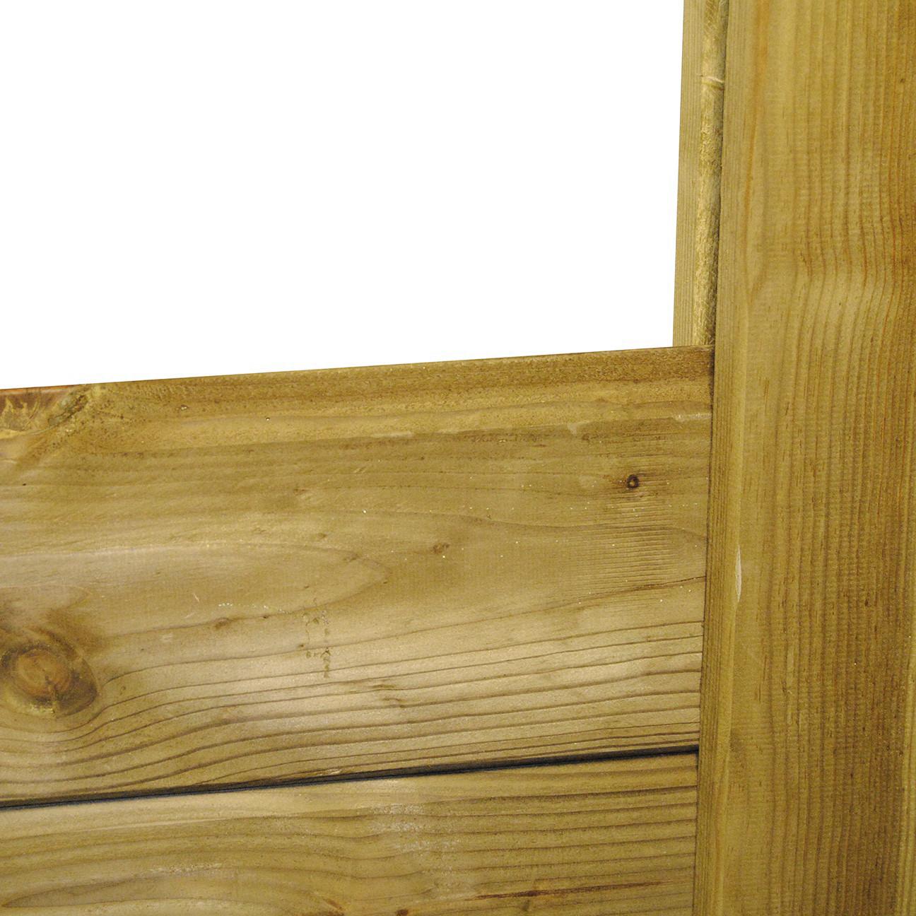 Bois Pour Exterieur Classe 4 poteau d'angle clôture bois 9x9 cm l. 2,00 m