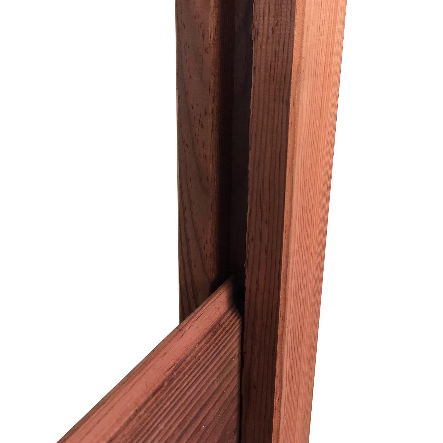 Poteau Bois Pour Terrasse poteau en u marron 200x9x9 cm pour extrémités de clôture bois