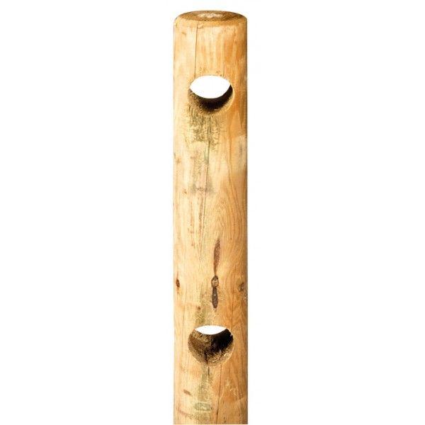 Rondin 2 perçages traversants 200 cm pour clôture normande ~ Cloture Bois Rondin