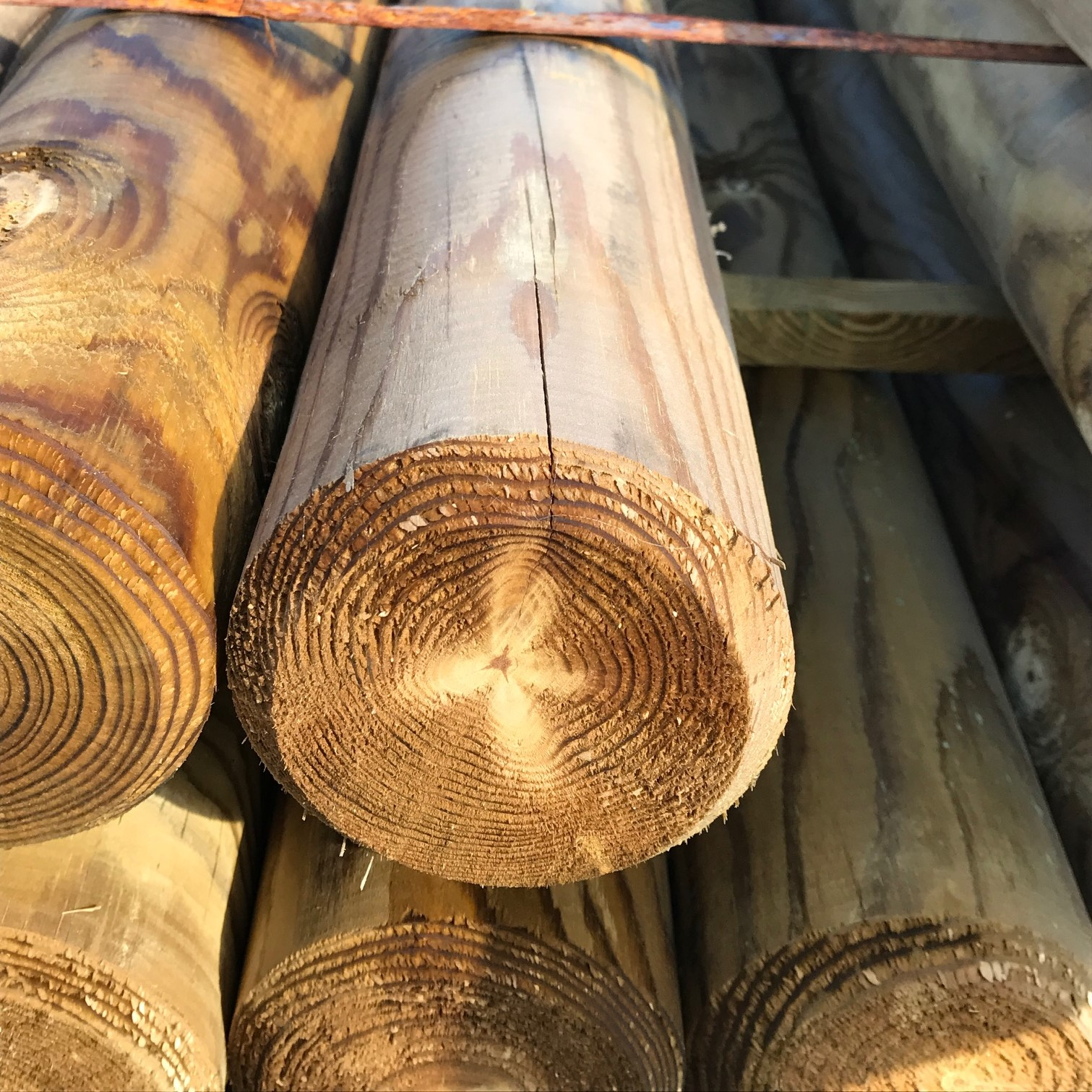 rondin de bois ext rieur rondins bois autoclave pas cher. Black Bedroom Furniture Sets. Home Design Ideas