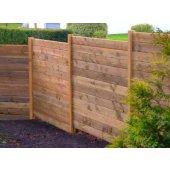 Kit 20 ml clôture en bois teinté marron Hauteur 1,80 m