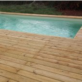 Kit terrasse 50m² TRADITION en pin Cl4 lisse